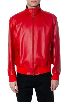 RED LEATHER BOMBER JACKET SS 2020 ALEXANDER McQUEEN | 14 | 603449Q5HSM6455