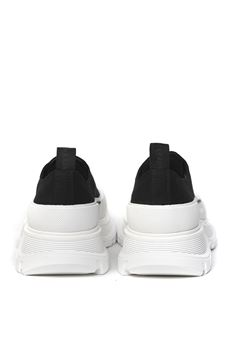 SNEAKERS TREAD SLICK IN BLACK & WHITE CANVAS SS 2020 ALEXANDER McQUEEN   55   604257W4L321070