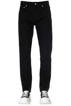 BLACK COTTON DENIM JEANS WITH DRAGON PATCH SS 2020 ALEXANDER McQUEEN | 4 | 610145QOY011000