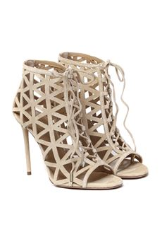 BEIGE HIGH LEATHER SANDAL SS 2020 AQUAZZURA | 87 | GPHHIGB0-SUE-000GRAPHISTE BOOTIE 105NEW NUDE