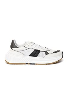 SPEEDSTER WHITE LEATHER & MESH SNEAKERS SS 2020 BOTTEGA VENETA | 55 | 565646VJE219093