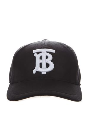 BASEBALL HAT IN BLACK COTTON WITH EMBROIDERED LOGO SS 2020 BURBERRY | 17 | 8010946.A1189
