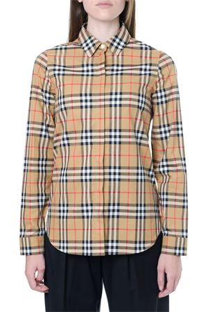 COTTON SHIRT WITH ICONIC CHECK PRINT SS 2020 BURBERRY | 9 | 8014010.A2219