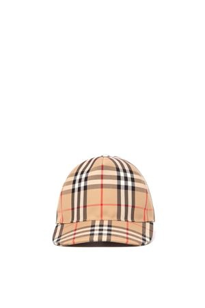 CAPPELLO BASEBALL IN COTONE CON STAMPA CHECK PE 2020 BURBERRY | 17 | 8021444.A7026