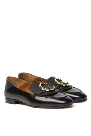 BLACK LEATHER LOAFER SS 2020 CHLOÉ | 130 | CHC19S13306UNI001