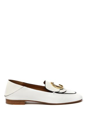 WHITE LEATHER LOAFER SS 2020 CHLOÉ | 130 | CHC19S13306UNI119