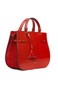 RED DIDI CROCO PRINT LEATHER BAG SS 2020 COCCINELLE | 2 | E1 FA8 1802 01R08