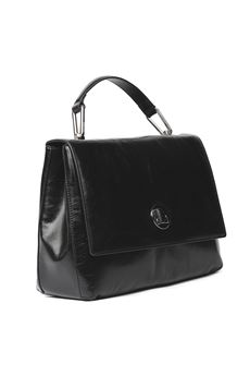 LYA BLACK POLISHED LEATHER HANDBAG SS 2020 COCCINELLE | 2 | E1 FD2 1801 01001