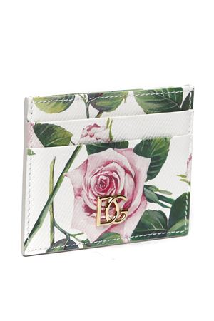 LEATHER TROPICAL ROSE PRINT CARDHOLDER SS 2020 DOLCE & GABBANA | 110000025 | BI0330AJ757HA96C