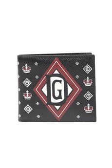 CROWN PRINTED BLACK LEATHER BI-FOLD WALLET SS 2020 DOLCE & GABBANA | 34 | BP1321AK443HN71C