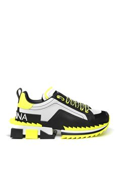 SUPER KING FLUO RAYON & LEATHER SNEAKER SS 2020 DOLCE & GABBANA | 55 | CS1649AX0248R154