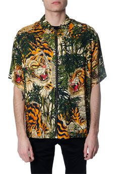 ALL OVER JUNGLE PRINT VISCOSE SHIRT SS 2020 DSQUARED2 | 9 | S71DM0393S52778001S
