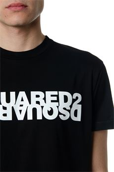 BLACK COTTON T-SHIRT WITH DSQUARED2 WRITING SS 2020 DSQUARED2 | 15 | S74GD0635S22427900