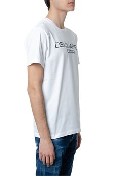 WHITE COTTON T-SHIRT WITH DSQUARED2 CAPRI WRITING SS 2020 DSQUARED2 | 15 | S74GD0643S22844100