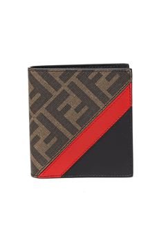 BI-FOLD FIBER & LEATHER MONOGRAM WALLET SS 2020 FENDI | 34 | 7M0274A9XSF19P9