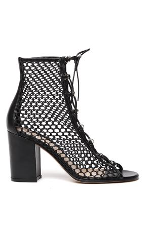 BLACK LEATHER CAGED SANDALS FW 2019 GIANVITO ROSSI | 87 | G50699-85RIC-VIGVITELLO+GIGLIOBLACK+BLACK NENE