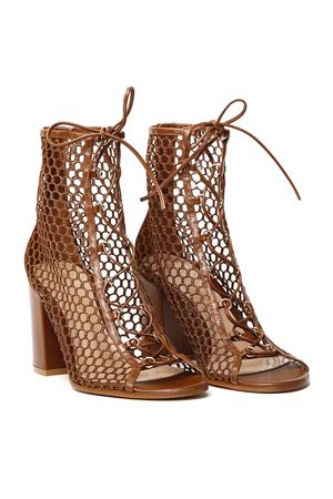 LIGHT BROWN LEATHER CAGED SANDALS SS 2020 GIANVITO ROSSI | 87 | G50699-85RIC-VIGVITELLO+GIGLIOCUOIO+CUOIO