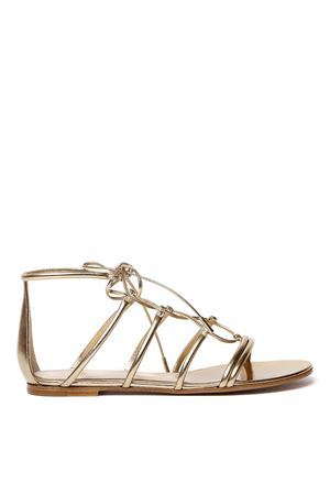 GOLD LAMB LEATHER GLADIATOR SANDALS SS 2020 GIANVITO ROSSI | 87 | G61433-05CUO-NPSNAPPA SILKMEKONG MEKO