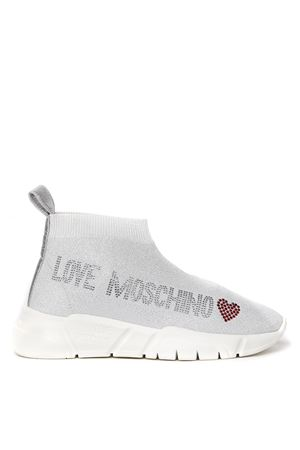 LIGHT GREY ELASTIC FABRIC SNEAKER SS 2020 LOVE MOSCHINO | 55 | JA15093G1AIRUNI0100