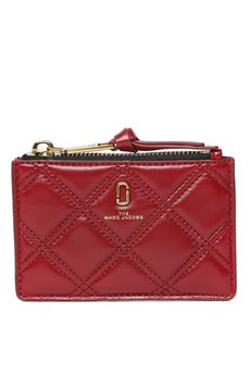 SOFTSHOT BERRY QUILTED LEATHER WALLET SS 2020 MARC JACOBS | 34 | M00158651678
