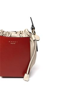 RED & CREAM LEATHER SHOULDER BAG SS 2020 MARNI | 2 | SBMP0030Q1P2739Z2G19