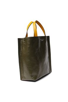 TWO COLOR LEATHER MUSEO TOTE BAG SS 2020 MARNI | 2 | SHMP0018U1P2644Z2G17