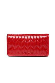 RED QUILTED LEATHER CLUTCH SS 2020 MIU MIU | 2 | 5DH0292D6CF0011