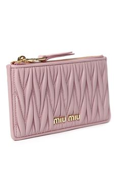PINK QUILTED LEATHER WALLET SS 2020 MIU MIU | 34 | 5MB006N88F0028