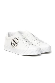 WHITE LEATHER SNEAKER SS 2020 PHILIPP PLEIN | 55 | S20SMSC2646PLE008N01