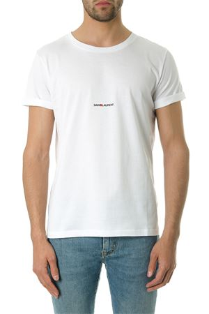 WHITE COTTON BASIC T-SHIRT WITH LOGO SS 2020 SAINT LAURENT | 15 | 464572YB2DQ9000