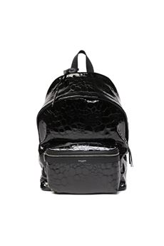 BLACK CROCODILE EFFECT LEATHER BACKPACK SS 2020 SAINT LAURENT | 183 | 53496700X5F1000