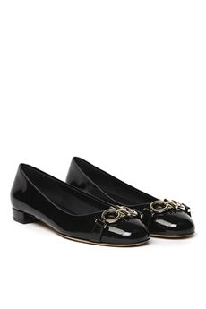 BLACK PATENT LEATHER BALLERINAS SS 2020 SALVATORE FERRAGAMO | 150 | 70474701P014005