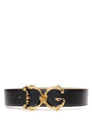 BLACK LEATHER DG BELT FW 2019 DOLCE & GABBANA | 12 | BE1336AX09580999