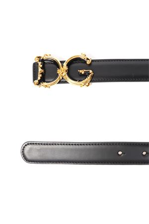 BLACK LEATHER DG BELT FW 2019 DOLCE & GABBANA | 12 | BE1348AX09580999