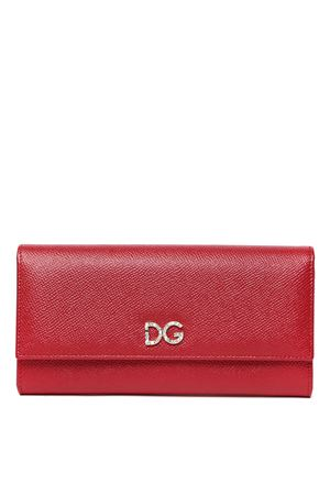 RED LEATHER CONTINENTAL WALLET FW 2019 DOLCE & GABBANA | 34 | BI0087AU77180303