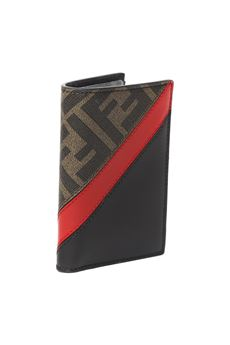 COTTON & LEATHER FF CARDHOLDER SS 2020 FENDI | 110000025 | 7M0262A9XSF199B
