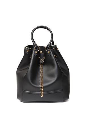 BORSA CHAIN BACKETT IN PELLE COLORE NERO PE 2020 FENDI | 2 | 8BT322AAJ1F1A3D