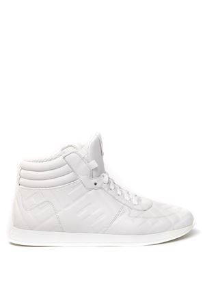 SNEAKERS HIGH-TOP IN NAPPA COLORE BIANCO CON FF ALL OVER PE 2020 FENDI | 55 | 8E7045AADSF0H23