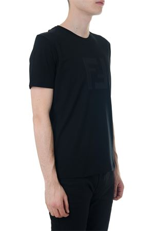 BLACK COTTON T-SHIRT WITH LOGO FENDI SS 2020 FENDI | 15 | FAF532A54PF0GME