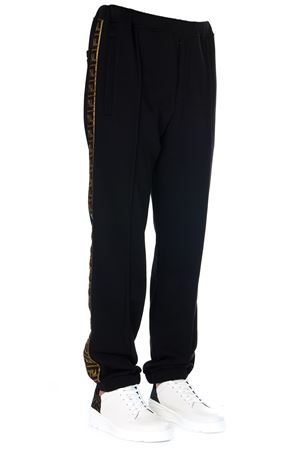 TAILORED BLACK COTTON PANTS WITH SIDE BAND SS 2020 FENDI | 8 | FB0461A1BQF0QA1