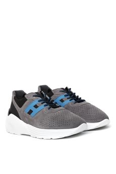 ACTIVE ONE GREY SUEDE SNEAKERS SS 2020 HOGAN   55   HXM4430BR10NL965BH