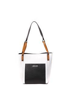 WHITE ALYA LEATHER BAG SS 2020 MARC ELLIS | 2 | ALYA-WHITE/BLACK/CUOIO
