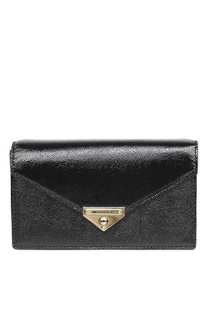GRACE BLACK GLOSSY LEATHER CLUTCH SS 2020 MICHAEL MICHAEL KORS | 2 | 30H9GGHC2A-001