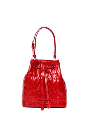 RED QUILTED LEATHER BUCKET BAG SS 2020 MIU MIU | 2 | 5BE0432D6CF0011