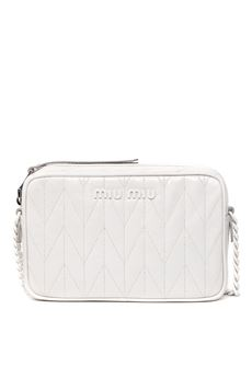 TALC COLOR CAMERA QUILTED LEATHER BAG SS 2020 MIU MIU | 2 | 5BH118VMOM2D6CF0K74