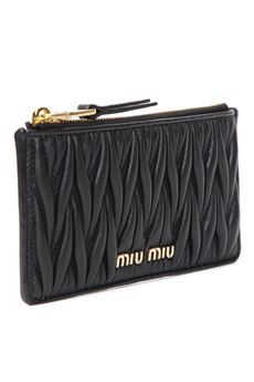 BLACK QUILTED LEATHER WALLET SS 2020 MIU MIU | 34 | 5MB006N88F0002
