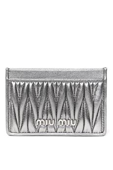 SILVER LEATHER CARDHOLDER SS 2020 MIU MIU | 34 | 5MC208N88F0135