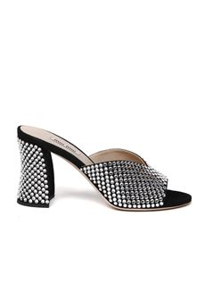 BLACK LEATHER CRYSTAL MULE SS 2020 MIU MIU | 87 | 5XX417F085XVSF0002