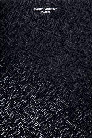 POCHETTE CLASSICA IN PELLE NERA CON LOGO PE 2020 SAINT LAURENT | 180000087 | 397294BTY0N1000