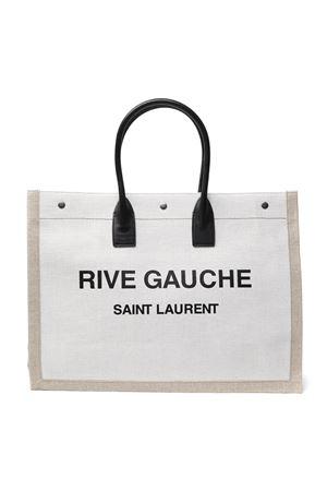RIVE GAUCHE NATURAL LINEN SHOPPING BAG SS 2020 SAINT LAURENT | 2 | 4992909J52D9280